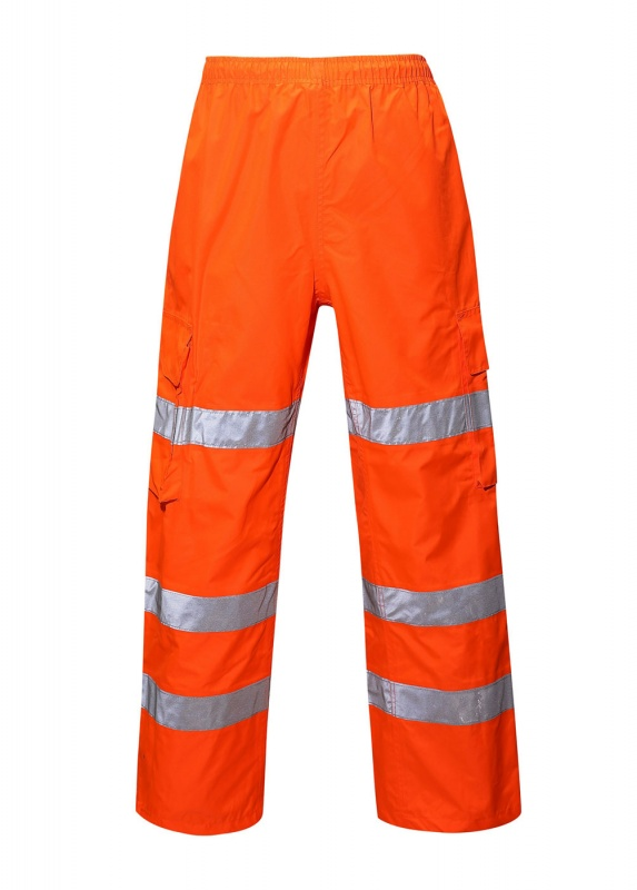 Hi-Vis Orange Waterproof Overtrousers  CODE:HV10